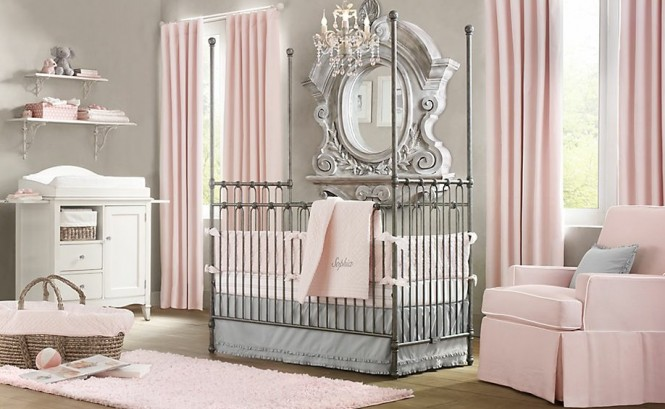 แต่งห้องนอนเด็กสไตล์วินเทจ สีพาสเทล