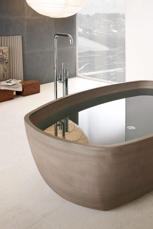 แบบห้องน้ำสวยปูกระเบื้องโทนสีเทา