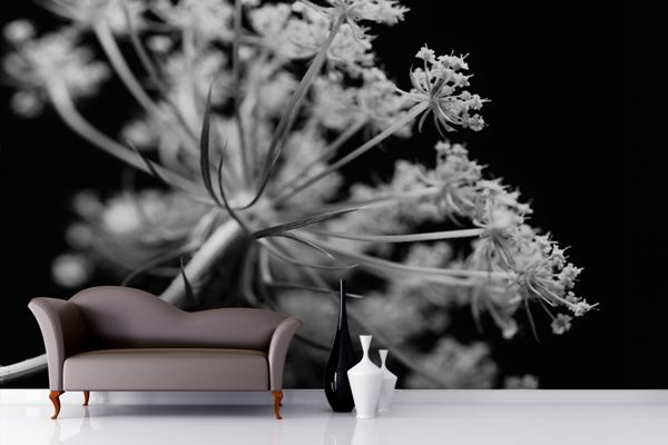 Wallpaper ผนัง สีขาวดำ