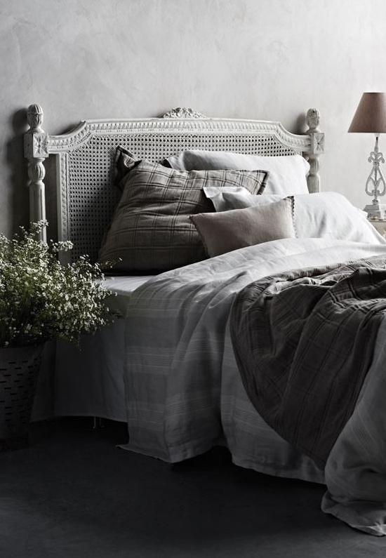 ห้องนอนสวยๆ โทนสีเทา