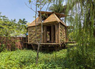 แบบบ้านไม้ไผ่ บ้านยกพื้นหนีน้ำท่วม