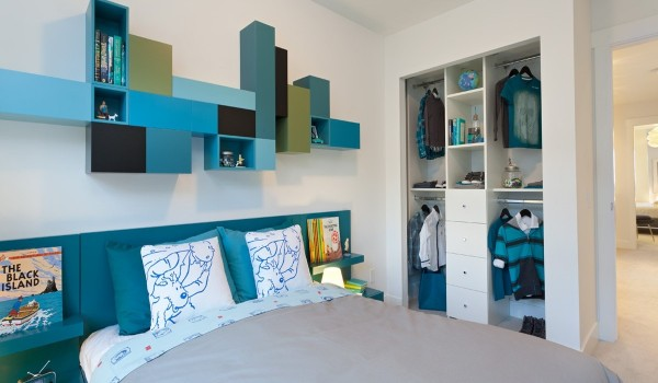 แบบห้องนอนสีฟ้า