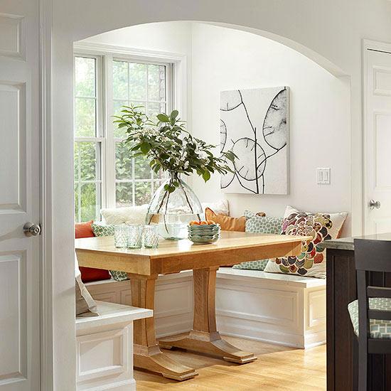 แบบมุมที่นั่งสวยๆ ตกแต่งห้องครัว
