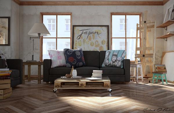 แบบไอเดียตกแต่งห้อง สตูดิโอ สำหรับศิลปินวาดรูป
