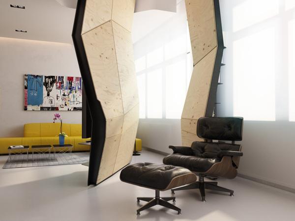 แบบห้องทันสมัย ตกแต่งผนังสวยงาม มีมิติ 3D