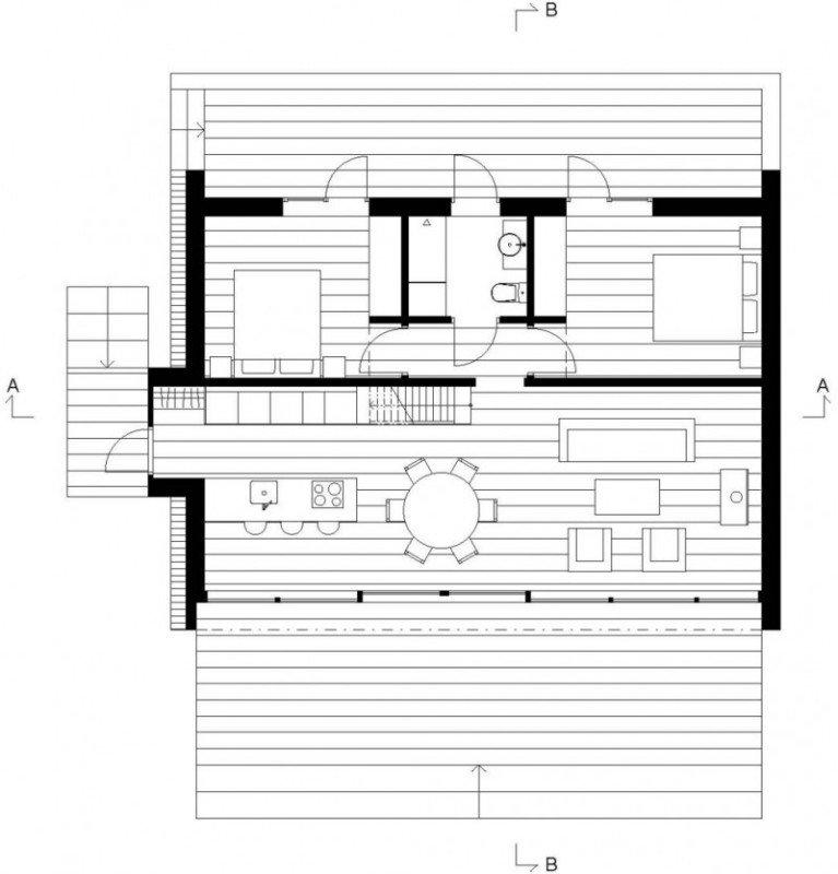 บ้านทรงสามเหลี่ยม บ้านขนาดเล็กชั้นครึ่ง