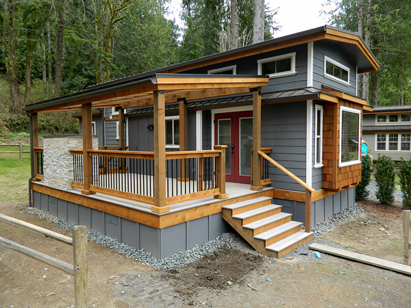 แบบบ้านไม้2ชั้น หลังเล็ก สำหรับพักตากอากาศ บ้านสไตล์