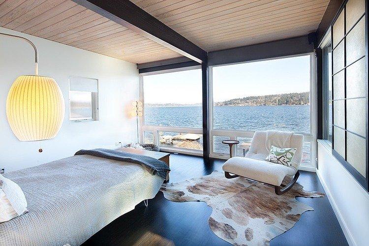 แบบบ้านรูปทรงทันสมัย 2 ชั้น วิวแม่น้ำ ทะเล