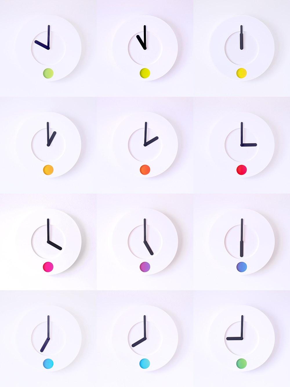 นาฬิกาเปลี่ยนสี ติดผนัง ไอเดียเก๋ไก๋