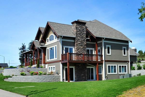 แบบบ้าน2ชั้น หลังใหญ่ ปลูกบนเนินสูง