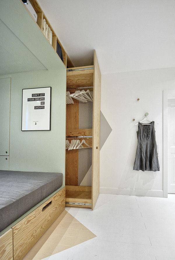 แบบตกแต่งภายในห้องนอน ห้องทำงาน ช่วยประหยัดพื้นที่