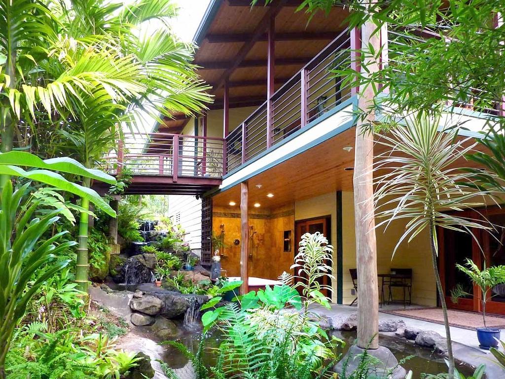 แบบบ้าน2ชั้น สไตล์รีสอร์ท มีสวนน้ำตก