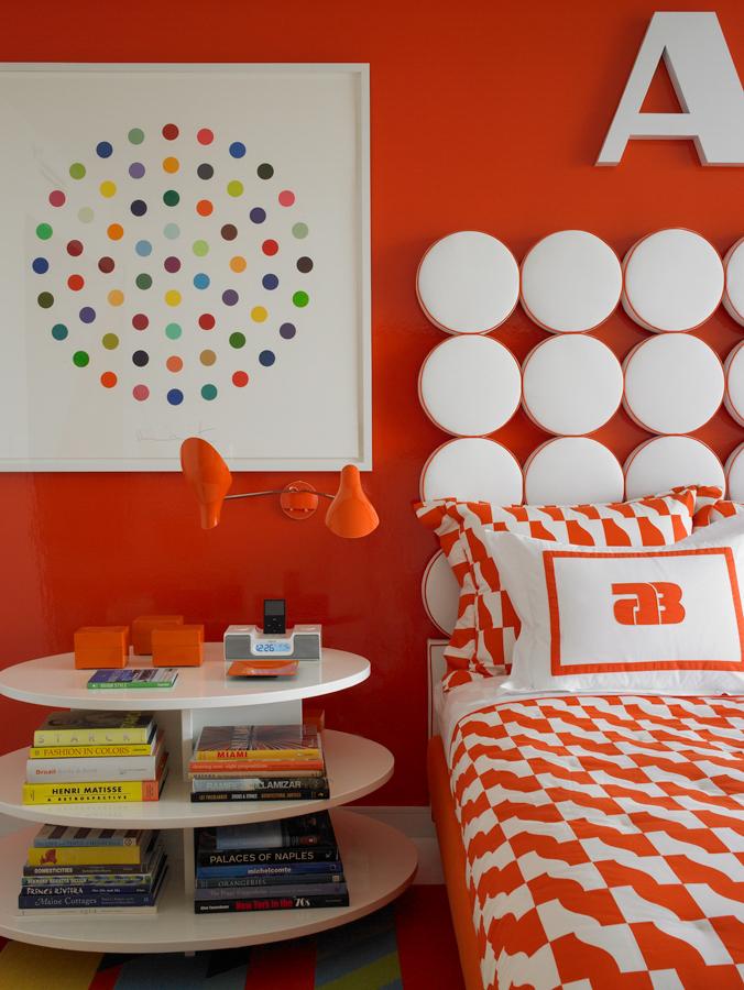 ไอเดียตกแต่งห้องนั่งเล่น ห้องนอน โทนสีส้ม