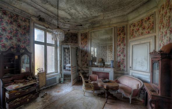 ภาพถ่ายความงามของงานศิลปะ บ้านร้าง