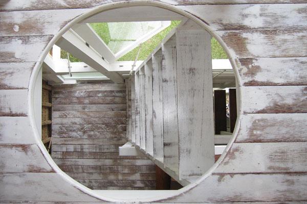 ระเบียงบ้านกระท่อมไม้