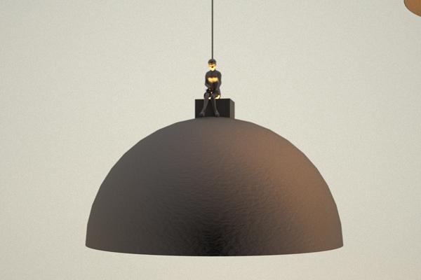โคมไฟแขวน สีดำ ดีไซน์เก๋ไก๋