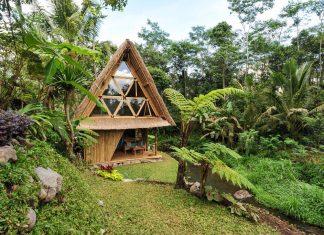 บ้านพัก รีสอร์ท ECO จากไม้ไผ่ อยู่ติดลำธาร
