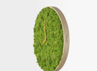 นาฬิกาติดผนัง จากมอส สวยงามเก๋ไก๋