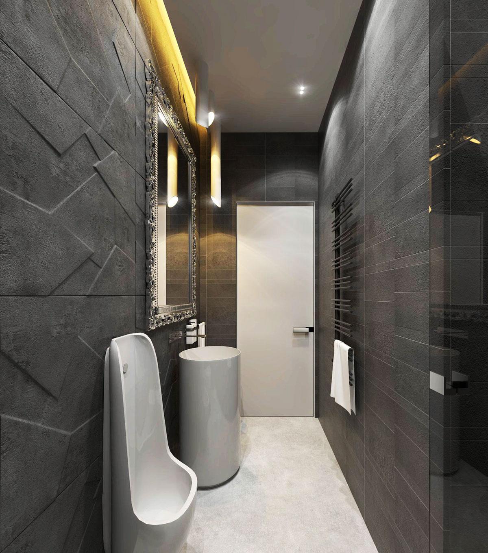 แบบห้องน้ำหรูหรา มีระดับ 2 แบบ 2 สไตล์