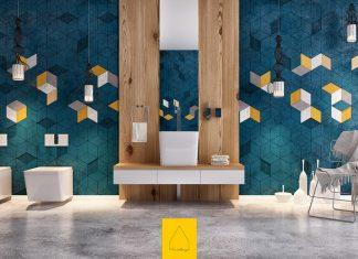 แบบลายผนัง ลายกระเบื้องห้องน้ำ สีสันสวยงาม