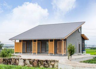 แบบบ้านญี่ปุ่นชั้นครึ่ง สไตล์โมเดิร์น หลังคาเพิงหมาแหงน