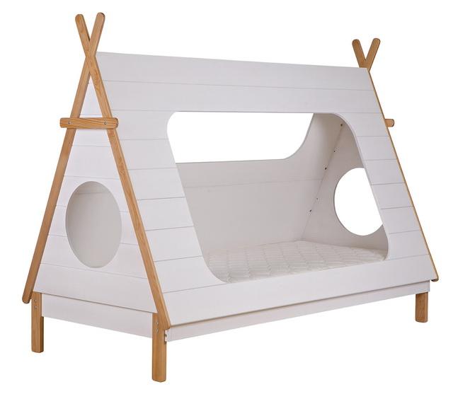 น่ารัก เตียงนอนเด็ก รูปทรงกระท่อมทำจากไม้