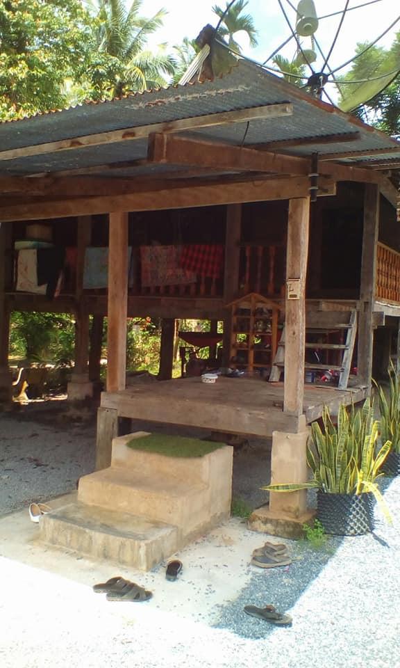 เรือนไม้ยกพื้นโบราณ หลังคามุงจาก ทรงไทย-มาลายู จ.สตูล