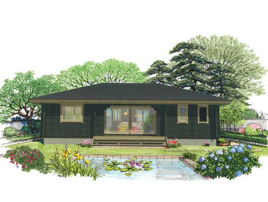 แบบแปลนบ้านไม้ญี่ปุ่น